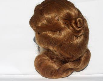 Doll Wig New Old Stock BRU Style Honey Blonde Dynel/Dollspari Size 9