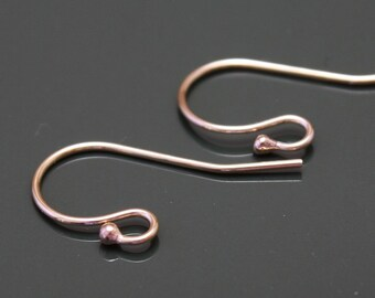 14k Gold Filled Ear wires - Shepherd Hook  with Ball - Select Pack Sizes