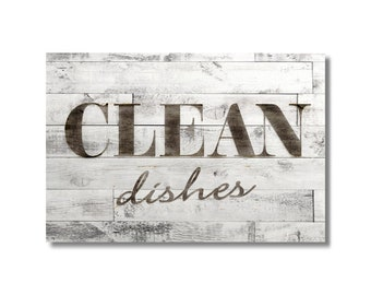 Dishwasher Clean Dirty Flip Magnet Sign Farmhouse country GRAY Ship Lap farm kitchen Wife