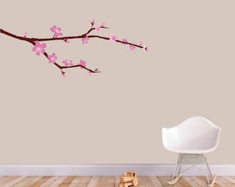 Cherry Blossom Branch - Trees and Branches Printed Wall Decals