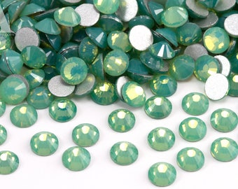 Green Opal Glass Rhinestones for Embellishments 2-6mm