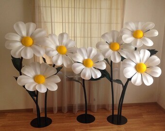 Giant Paper Flowers-Standing Paper Flowers-Flowers wihs Stem-Steemed Flowers-Flowers Stand-Large paper Flowers-Flowers Stand Decoration