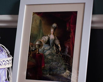 Baroque Luxury Rococo Wedding Decor Wall Art - Framed Antique Prints Posters - Marie Antoinette Versailles Louis XIV French Renaissance