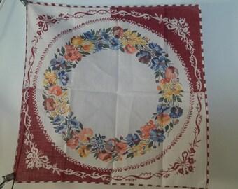 Vintage Spring Floral Cotton Hankie
