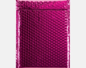 20 Hot Pink Bubble Mailer, Bubble Mailers, Metallic Bubble Mailer, Mailing Envelope, Shipping Envelopes, Padded Bubble, Self Sealing 6x9