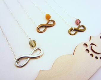 3 best friend necklace. Best friend gift. Friendship necklaces, infinity necklace. Custom charm necklace. Friends forever.