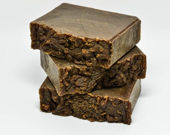 All Natural Pine Tar Soap, Old Fashioned Pine Tar Soap, essential oil soap, brown soap, relieves itch