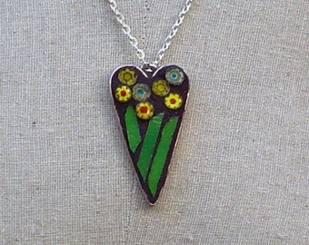 Field of Yellow Daisies Mosaic Pendant/Necklace