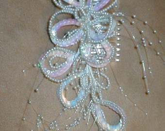 Bridal Headpiece of Beads on a Comb