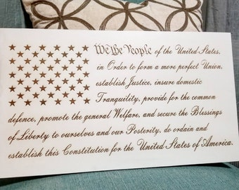 We the People | Wooden Flag Wall Art