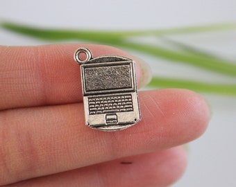 Own Charm-- Silver Computer Laptop Charms 22 x 14mm