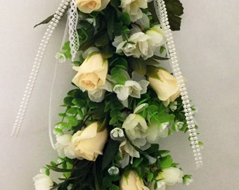 Eucalyptus  rose wedding swag
