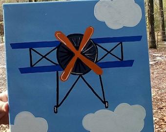 Vintage Airplane canvas