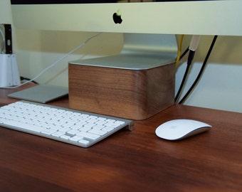 Walnut Wooden iMac Stand