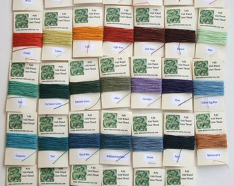 You Pick 3 Colors - 15 Yards Total of Irish Waxed Linen Thread