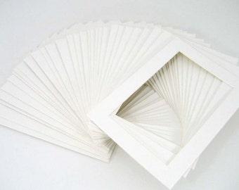 10 8x10 white mats for 5x7 photos or artwork ships next biz day