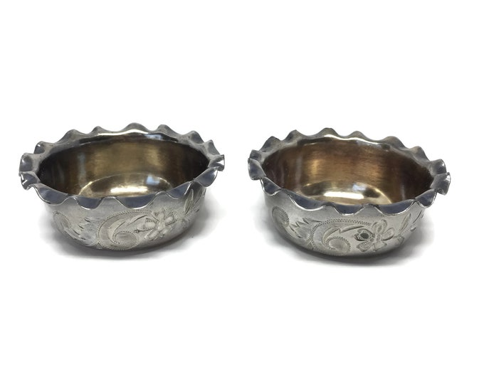 Silver Plate Salt Cellars by Roger Smith & Co.