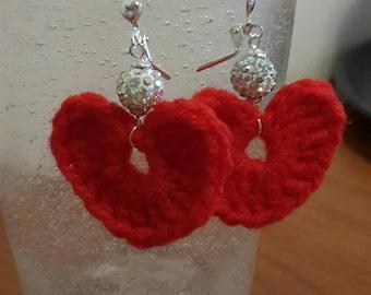 Crochet Love Earrings