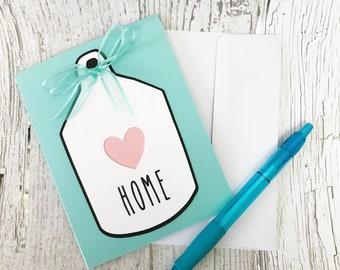 Rae Dunn Inspired Birdhouse Card | Birdhouse Home Cards | Mother's Day Card Card