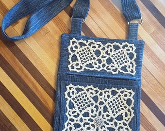 Denim and Lace Bag