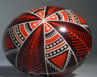 Red rushnok chicken pysanka