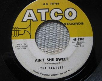 "The Beatles, John Lennon, ""Ain't She Sweet"", 2nd Pressing, Atco Records, Original 45!"