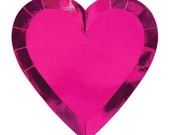 Metallic Heart Plates