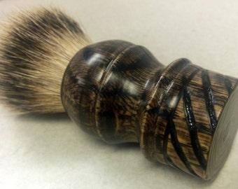 Handmade Wet Shaving Badger Hair Brush - Vintage Oak