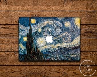 Starry night Macbook Decal / Laptop Sticker /Macbook Sticker / Macbook pro 13 case / Stickers Macbook pro / Macbook air skin / EL016
