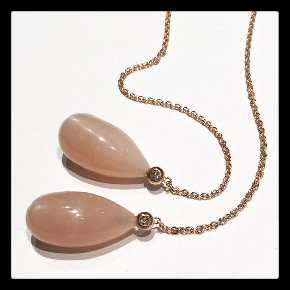 The Celine Moonstone Earrings