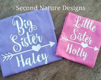Girl's Little Sister Shirt / Lil Sis Shirt / Big Sister Shirt / Sister Shirts / Big Sis Shirt