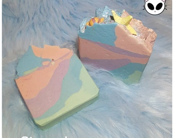 Unicorn Candy   Homemade Artisan Soap -- Vegan Friendly, Cold Process, Cruelty Free, Sustainably Obtained Palm Oil