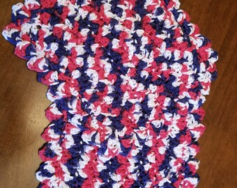 Red, white, and blue dishcloths
