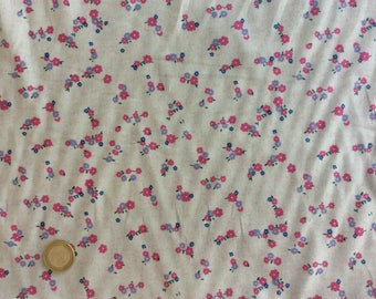 Cotton lawn fabric, floral print