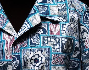 Hawaiian Shirt, Men's, RJC Ltd., Size Extra Large, Green, Blue, Turquoise, Cotton, Camp Shirt,Sports Shirt,Short Sleeves, FREE US Shipping