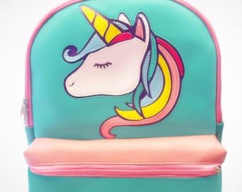 Unicorn pastel rainbow Laptop backpack