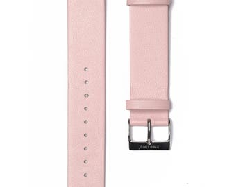 Silver Buckle Watch Strap. Genuine Leather Interchangeable Strap.