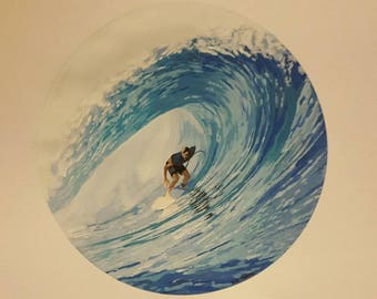 Surf art. 8x10 print from original acrylic painting hand signed by artist
