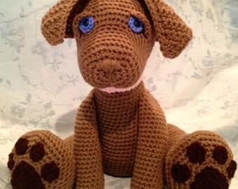 Chocolate Labrador Pouty Puppy Amigurumi PATTERN