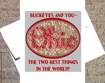 Ohio State Card, Buckeye Card, Funny Romance Card, The Best Card, OSU, Scarlet And Gray, Ohio State Buckeyes, Funny Card, Cereal