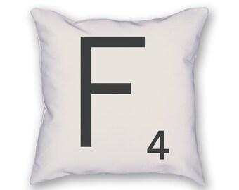 Scrabble Tile Pillow