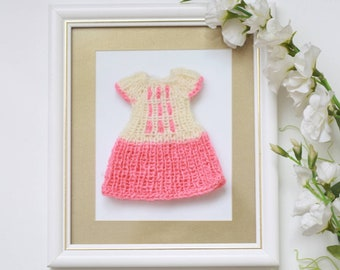 Aknitted dress for custom Blythe doll outfit Blythe doll clothes Handmade for custom doll dress