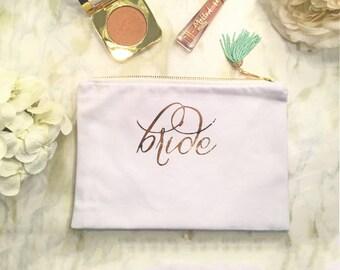 Bride Canvas Cosmetic Bag