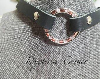 Rhinestone O-ring Collar