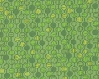 FAT QUARTER - Blueprint Basics by Valorie Wells for Robert Kaufman, Pattern #14543-310 Leap Frog, Tonal Green Beads on a String