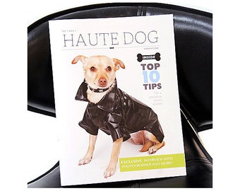 """Dog Photography Magazine Template: Customizable Template - Instant Download - Magazine Titled """"Haute Dog"""" includes Article and Pages for Ads"""