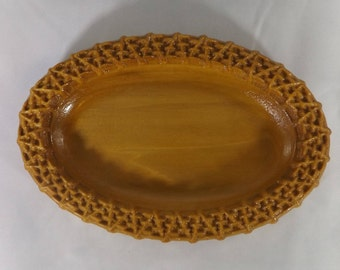 Poplar Wood Carved Soap Dish