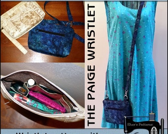 PDF Pattern for Paige Wristlet, Cellphone Case Pattern, Wristlet Pattern, Crossbody Bag Pattern, Sewing Pattern, Tutorial, DIY