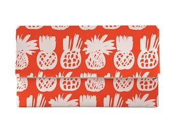 Pineapple Field Clutch, Tropical Clutch, Island Clutch, Hawaiian Print Clutch Bag