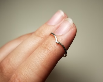 Sterling Silver Chevron Stack-able Rings/Knuckle Rings